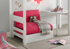 Beds Modena White Chair Bed Including Pink Futon Mattress