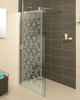 Roman Embrace 900mm Clear Glass Corner Wetroom Panel - Silver