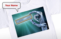 Personalised Gifts  - Data Chip - Sci-Fi T-Shirt