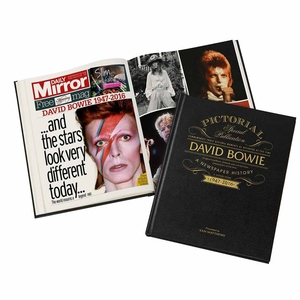 Gifts for Men  - David Bowie - Newspaper Book