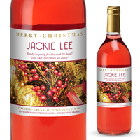 Personalised Gifts  - Decorations Personalised Christmas Rosé Wine