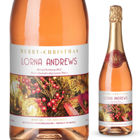 Personalised Gifts  - Decorations Personalised Christmas Sparkling Rosé
