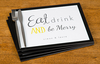 Eat,  Drink and Be Merry Personalised Placemats