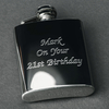 Engraved 3oz Hip Flask