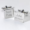Engraved Cufflinks - Best Man