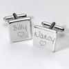 Engraved Cufflinks - Love