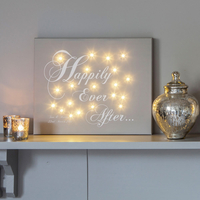 Novelty Gifts  - Happily Ever After Personalised Canvas