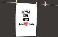 Personalised Gifts  - Happily Ever After Tea Towel