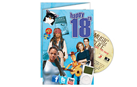 Personalised Gifts  - Happy 18th CD Card