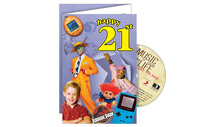 Personalised Gifts  - Happy 21st CD Card