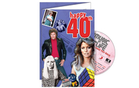 Personalised Gifts  - Happy 40th CD Card