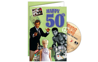 Personalised Gifts  - Happy 50th CD Card