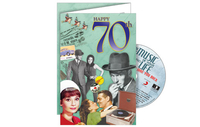 Personalised Gifts  - Happy 70th CD Card