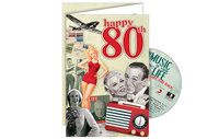 Personalised Gifts  - Happy 80th CD Card