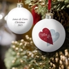 Happy Christmas Hearts Bauble