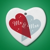 Mr & Mrs Heart Shaped Decoration