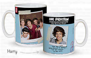 Personalised Gifts  - One Direction Personalised Mug
