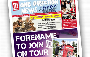 Personalised Gifts  - One Direction Personalised Newspaper Page