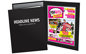 Personalised Gifts  - One Direction Personalised Pop Hits Magazine in Folder