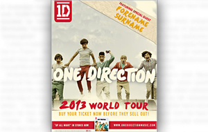 Personalised Gifts  - One Direction Personalised Tour Poster Laminated