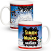 Personalised Beano Christmas Snowfall Mug