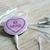 Personalised Heart Pin Badge MP3 Player