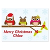 Personalised Holly Owls Placemat
