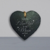 Personalised to the Moon and Back Heart Slate