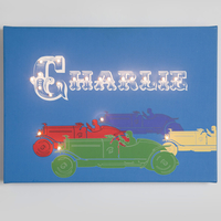 Gifts for Children  - Racing Cars Illuminated Canvas