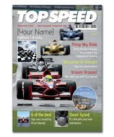 Personalised Gifts  - Racing Magazine Spoof