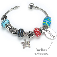 Gifts  - Rainbow Charm Bracelet - Butterfly Charm
