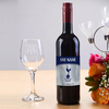 Tottenham Hotspur Spurs Personalised Red Wine with Glasses