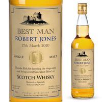 Personalised Gifts  - Wedding - Personalised Malt Whisky