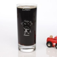 Etched PageBoy Wedding Character Juice Glass