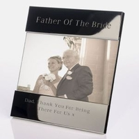 Internal Use|Wedding  - Father of the Bride Shiny Silver Frame