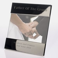 Internal Use|Wedding  - Father of the Groom Shiny Silver Frame