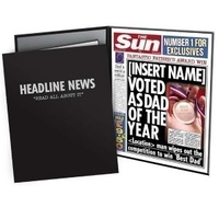 Internal Use|Gifts for Men|Birthday|Fathers day|Experience Gifts|Personalised Gifts  - Father of the Year Sun Newspaper Spoof