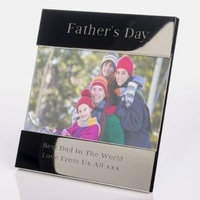 Internal Use|Fathers day|Experience Gifts  - Fathers Day Shiny Silver Frame