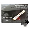 Personalised Gifts Graduation Message On a Jigsaw