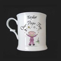Page Boy Character 1/2 Pint tankards