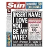 Internal Use|Gifts|Personalised Gifts Proposal Sun Newspaper Spoof
