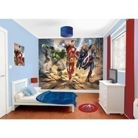 Gifts|Gifts for Men|Occasional Gifts|Birthday|Personalised Gifts|Gifts for Children  - The Avengers Mural Wallpaper 8x10ft