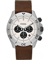Watches  - Fossil Mens Brown Retro Traveller Chronograph Watch
