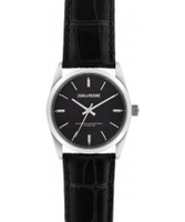 Watches  - Zadig and Voltaire Fusion Black Crock Leather Strap Watch