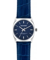 Watches  - Zadig and Voltaire Fusion Blue Crock Leather Strap Watch