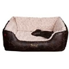 Barkshire Faux Leather Plush Snuggle Dog Bed 75x64cm