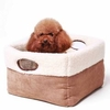 Barkshire Soft Pet Bed with Handles - 50 x 50cm