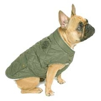 Clothing  - Canada Pooch Cityscape Coat 12in Army Green