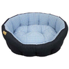 Earthbound Classic Jean & Gingham Dog Bed Small Blue - 45 x 40cm