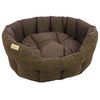 Earthbound Traditional Tweed & Waterproof Bed Small Brown - 45 x 40cm